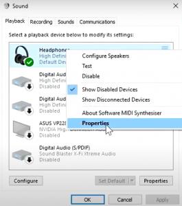Step 4- To boost Headphones bass on Windows